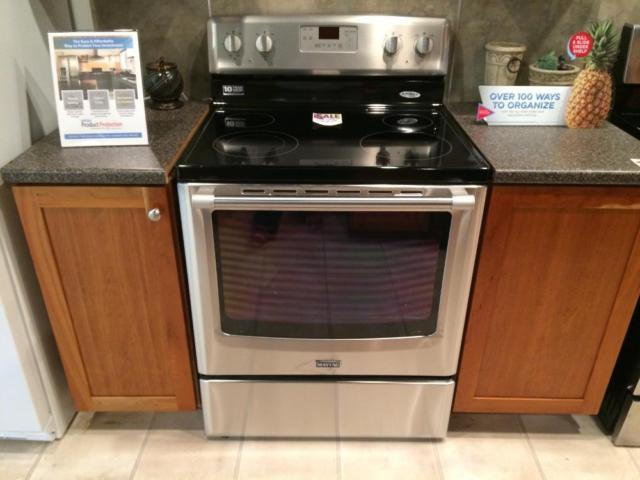 Maytag stainless smooth top range stove oven new for for Lakewood wood stove for sale