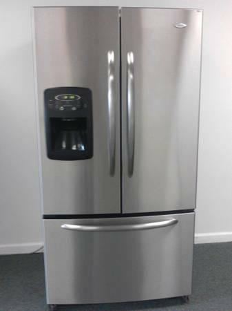Maytag Stainless Steelfrench Doorbottom Freezer Fridge For Sale