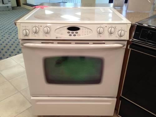 Maytag White 30 Quot Slide In Electric Smooth Top Range Stove