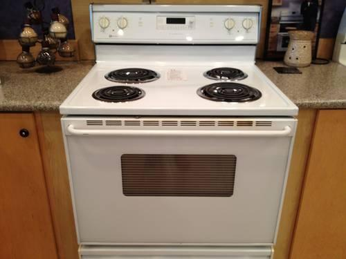 White Electric Stove ~ Maytag white electric range stove oven used for sale in