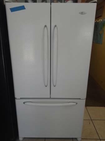 Maytag white french door refrigerator for sale in for White french doors for sale