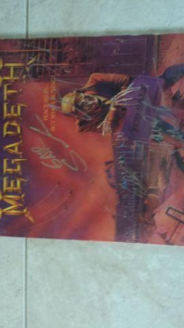 Megadeth piece sells lp signed
