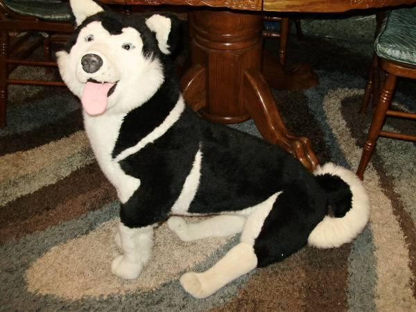 melissa and doug life size life like plush husky dog and labrador for sale in creedmoor north. Black Bedroom Furniture Sets. Home Design Ideas