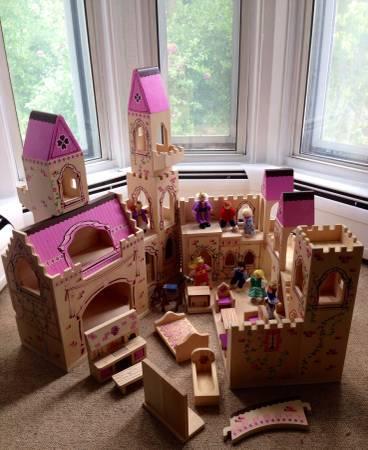 Melissa U0026 Doug Medieval Castle Doll House   $40