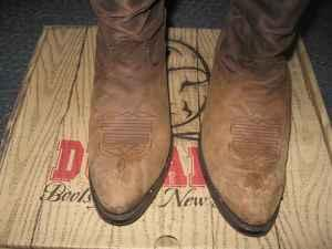 Men's Durango Tan Distressed Western Boot - $75