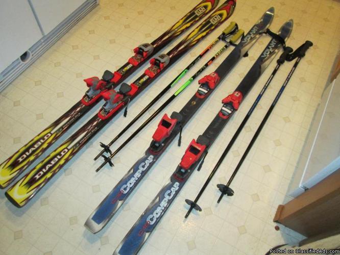 Men S Parabolic Skis 170 Centimeters Regular Skis Boots
