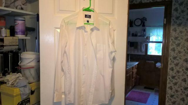 Men's stafford white dress shirt size 17-35