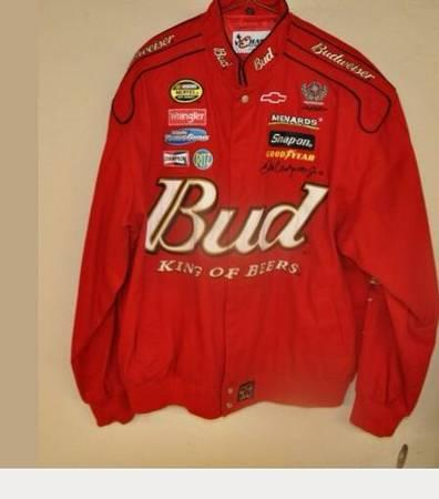 Mens Dale Earnhardt Jr NASCAR Budweiser jackets Chase authentics BLOWOUT - $20