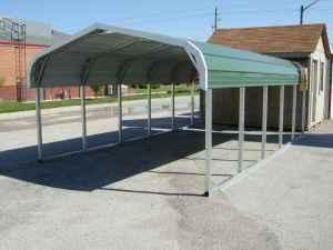 Metal carports and enclosed storage built on your lot for Build on your lot indiana
