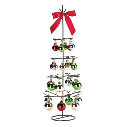 Metal Christmas Tree with Ornaments