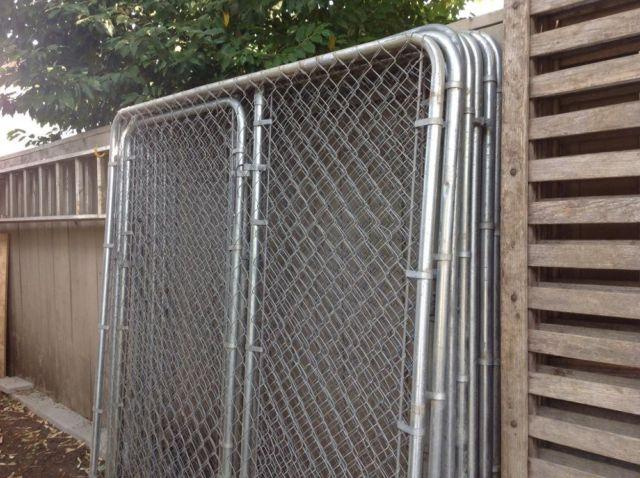 Metal Dog Run Kennel Eight 6x6 Panels Three 3 With