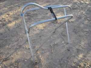 metal folding saddle stand - $10 (marana)