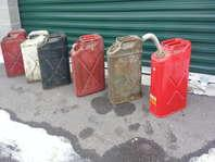 Metal Jerry Cans gas or water Most Vintage
