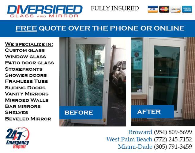 Miami Broward Affordable Window Glass Repair In