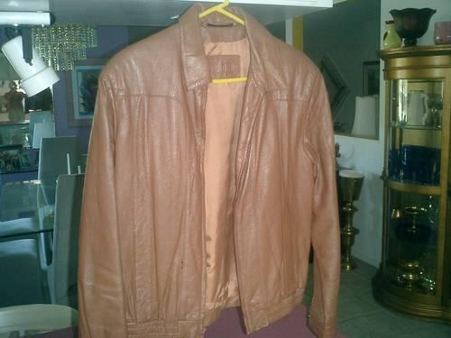 Michael Hoban Men S Soft Brown Leather Jacket Rare North Beach For