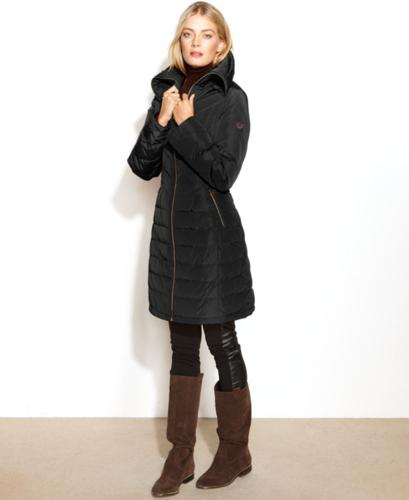 Michael Michael Kors Quilted Long Length Puffer Coat For Sale In
