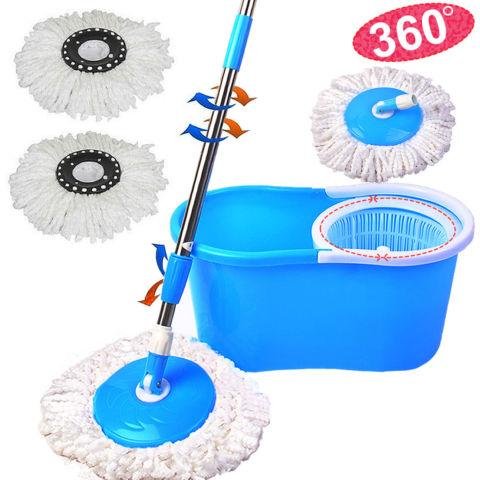 Microfiber Spining Spin Mop W/Bucket 2 Heads Rotating