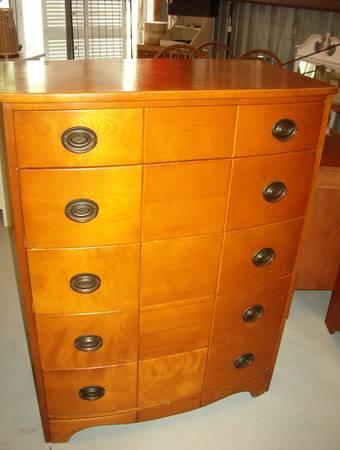 Mid Century 5 Drawers Chest Designer By Leo Jiranek. -