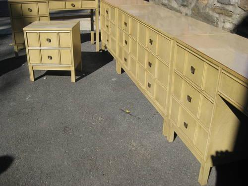 mid century 5 pc bedroom set by bassett for sale in