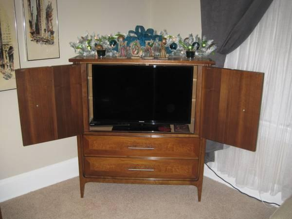 Mid Century Arhaus Armoire/TV Cabinet   $275