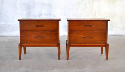 Mid Century Danish Modern Nightstands Vintage Bedside End