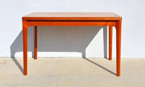 Mid century danish modern teak expanding dining table w for Mid century furniture florida