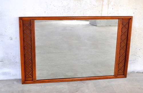 Mid century danish modern walnut framed mirror 1960s for Mid century furniture florida