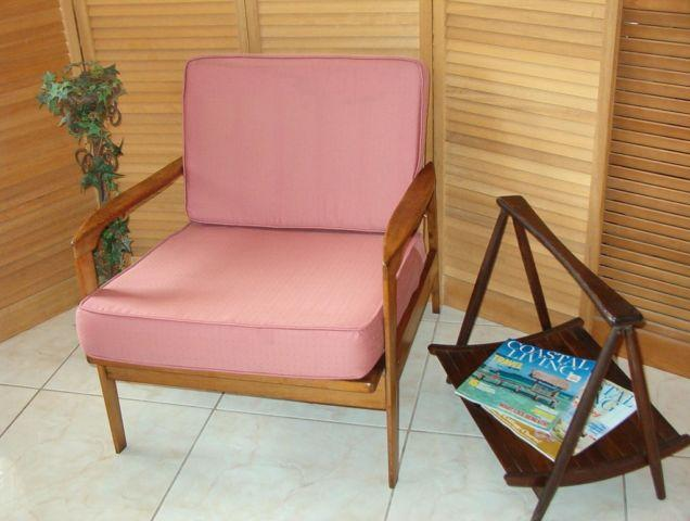 Mid century danish modern walnut lounge chair for sale in for Mid century furniture florida
