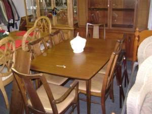 Mid Century Dining Room Table With 6 Chairs