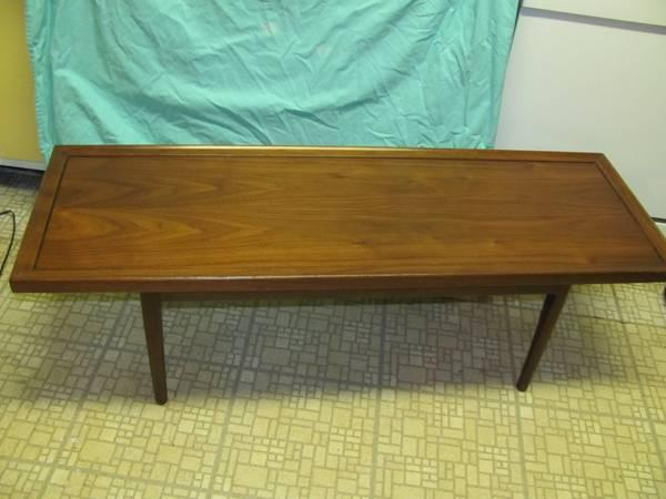 Mid Century Modern Coffee Table, Teak - $75