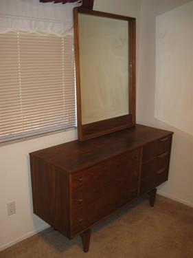 mid century modern danish modern bedroom set 5 pieces for sale