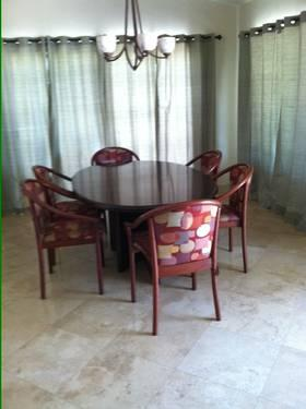 mid century modern danish modern dining room table and chairs for sale in palm desert. Black Bedroom Furniture Sets. Home Design Ideas