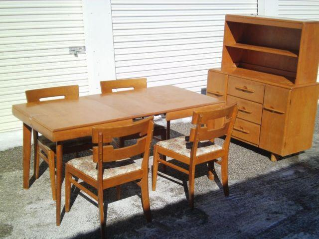 Mid Century Modern Dining Room Set Stuart Temple Walter Wabash For Sale In Baresville