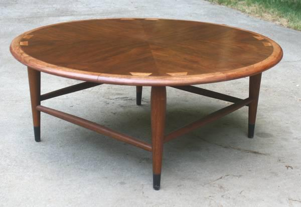 Mid Century Modern Lane Acclaim Round Coffee Table For