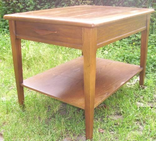 Mid Century Modern wood side table Redlicks San
