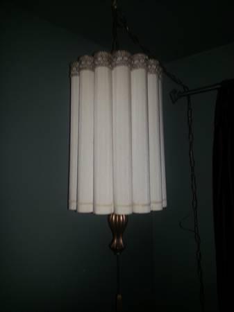 Mid Century Swag Lamp   $60