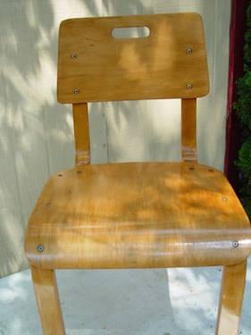 MID CENTURY THONET BENT WOOD CHILDS CHAIR - EXCELLENT