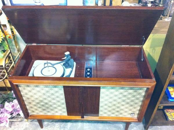Mid Century Treasure House Stereophonic Record Player Cabinet - $250