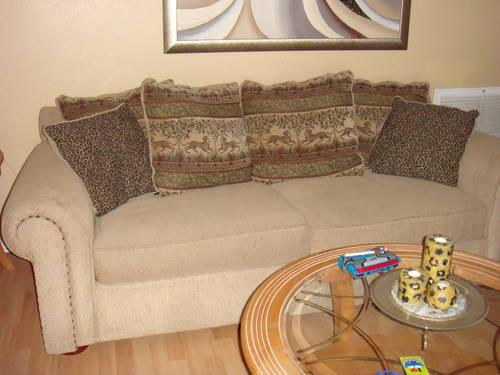 Mid century white leather pull out sofa for sale in fort for Mid century furniture florida