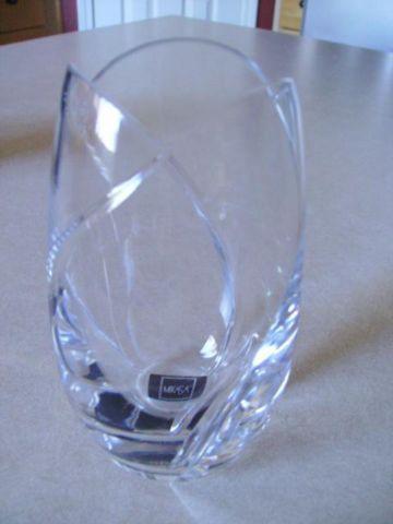 Mikasa Slovenia Clear Lead Crystal Cut Glass Flower Vase Very