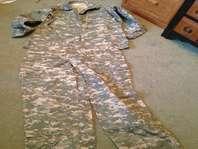 Military Camo Shirt, Pants and Hat