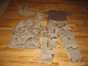 Military Desert Camo Boots, Pants, Shirts, Boonie Hat Dubuque