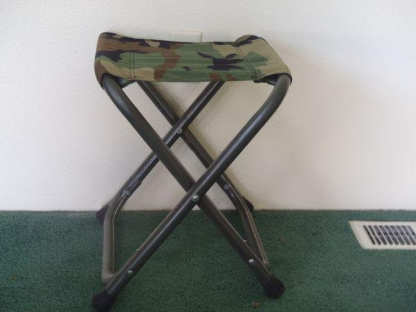 Military Stools And Camping Chairs And Table Missoula