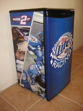 Miller Lite Racing Refrigerator For Sale In Rhinelander