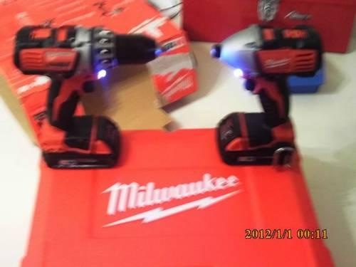 MILWAUKEE M18; 18-VOLT CORDLESS 2-TOOL COMBO KIT WITH