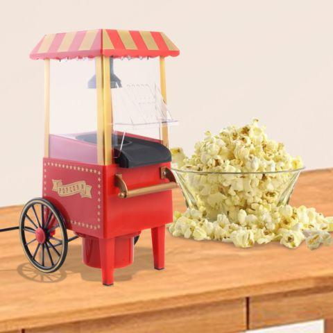 Mini Hot Air Pop Corn Maker Cart Popper Machine
