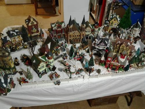 Miniture Christmas Village Houses And Accessories For Sale