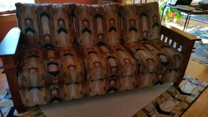 Mission Sofa Arts And Crafts Fabric Mission Oak Wood For Sale In Brush Colorado Classified
