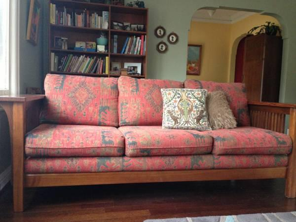 Mission Style Craftsman Sofa   $350