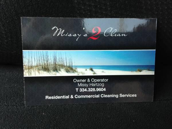 Missy's 2Clean Cleaning Business
